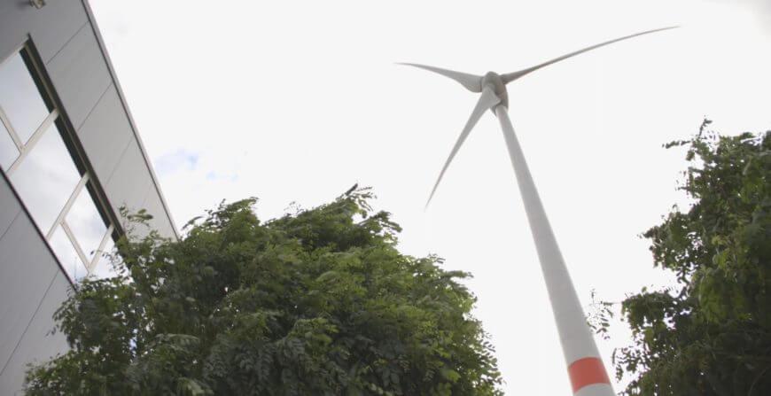 Windturbine op bedrijfsterreinen HAVI